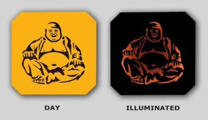 Laughing Budha Handcrafted Illuminated 12V Light Box St Agnes Tea Tree Gully Area Preview