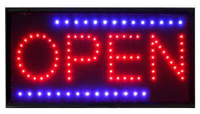 LED Open Sign For Shop Window Display illuminated Flashing LED Sign Super Bright
