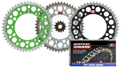 Renthal Grooved Front & Twinring Rear Sprocket & R3 Chain Kit - Kawasaki (Twinring Rear Sprocket)