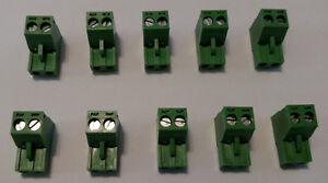 2 pin - 5mm Terminal Block Phoenix Connector, Crestron, Speakercraft, B&K QTY 10