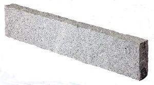 Bordstein Granit hellgrau gespitzt 100/20/6 cm Randstein Kantenstein Naturstein