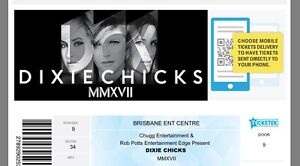 1 x Platinum Dixie Chicks ticket Goondiwindi Goondiwindi Area Preview