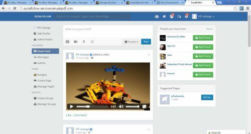 Social Network Website + Free Hosting SSL