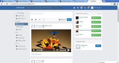 Social Network Website   Free Installation   Hosting