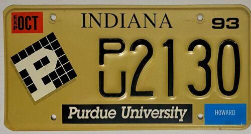1993 INDIANA License Plate IN #PU-2130
