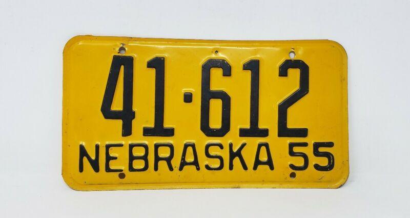 Vintage 1955 Nebraska License Plate - Polk  County 41 - Wall Decor