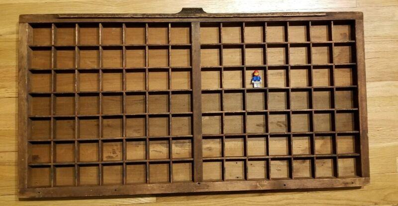 Display Lego Mini Figures! Vintage Wood Printers Drawer Storage Tray Antique