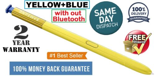 S Pen Touch Stylus For Samsung Galaxy Note 9 YELLOW+BLUE OEM Original Pen USA.