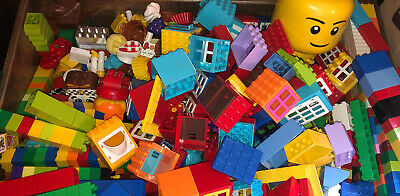 LEGO DUPLO RANDOM LOT OF 100 Bricks Blocks Train Cars people vehicles