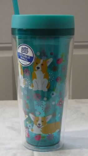 NWT Cool Gear Pembroke Welsh Corgi 24 oz. Double Wall Insulated Cup