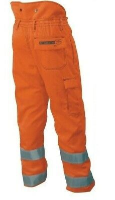 Francital Design A Chainsaw Trousers Hi Viz Orange  - Brand new Rail spec -