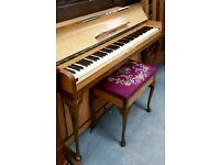 ART DECO KEMBLE MINX MINIATURE PIANO AND MATCHING STOOL
