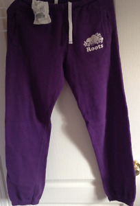 Roots sweatpants purple XS