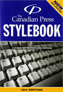 The Canadian Press Stylebook 12th Edition Paperback