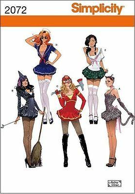 SIMPLICITY 2072 COSPLAY HALLOWEEN SEXY SAILOR WITCH CAT+ COSTUME PATTERN SZ 6-14 - Cat Halloween Costume Pattern