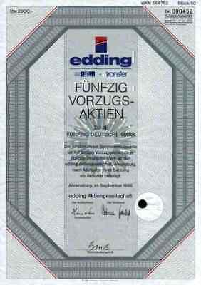 edding Text Marker 1986 Ahrensburg Hamburg Bautzen 2500 DM Legamaster Flipcharts