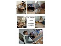 UP-CYCLING & UPHOLSTERY CLASSES @ DRAGON ARTS PONTARDAWE