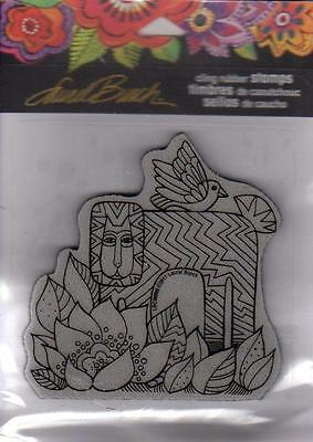 New Stampendous RUBBER STAMP LAUREL BURCH LION WITH BIRD FREE US SHIP