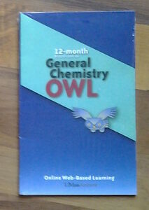 General Chemistry OWL online 12 month subscription