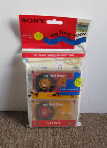 1 Pack Vintage Sony My First Sony Type I Normal Bias MFS46 Cassette Tapes - New