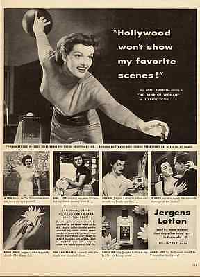 1951 vintage ad for Jergen's Lotion with Jane Russell  -120311