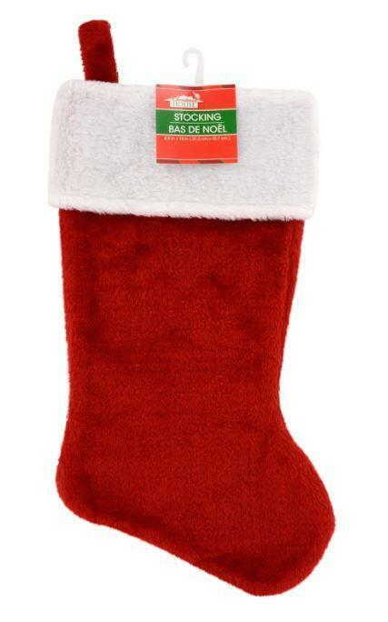 CHRISTMAS HOUSE PLUSH RED STOCKING 18″ Holiday & Seasonal Décor