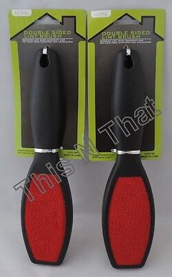 2 Lint Brushes Pet Hair Dandruff Remover Upholstery Clothing Crumbs NEW 2-sided