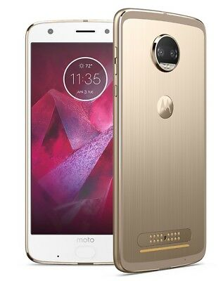 MOTOROLA MOTO Z2 FORCE XT1789 AT&T BRANDED + GSM UNLOCKED GOLD 64GB  USED