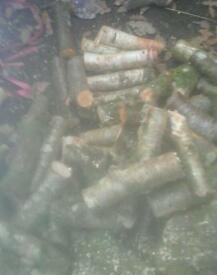 Round hardwood sticks 8 ins long small log burners