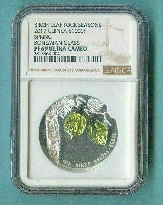 2017 GUINEA S1000F BIRCH LEAF FOUR SEASONS - SPRING NGC PF69 UC w ALL PACKAGING
