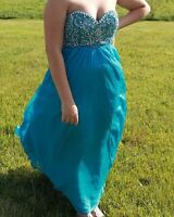 Blue Sheri hill prom dress! Price reduced need sold ASAP