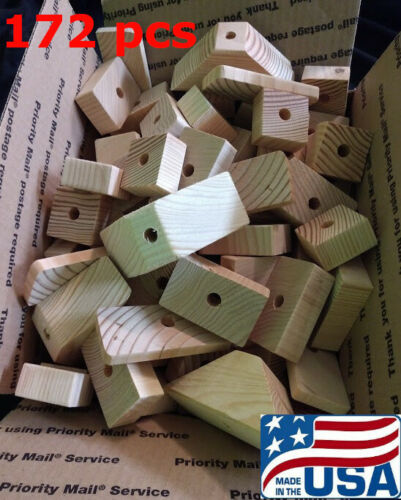 172 Large Natural Wooden Parts for Parrot Toys Bird Toys Macaw Amazon Cockatoo