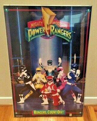 Mighty Morphin Power Rangers VINTAGE POSTER No Prop No Morpher