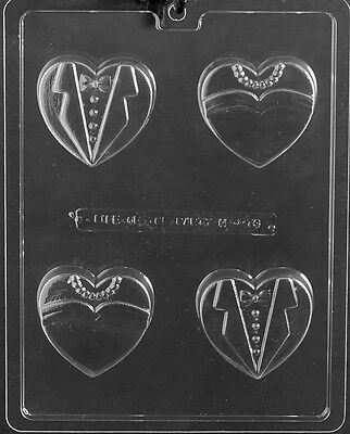 Bride and Groom Heart Cookie Chocolate Mold Soap Candy Wedding Party Favor m274