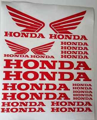 Honda& Honda Wings Tank Motorcycle Van Car Vinyl Decals Stickers set ALL COLOURS
