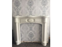 Marble Affect Fire Surround