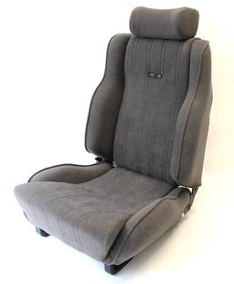 PAIR OF FORD ESCORT MK3 FRONT SEAT COVERS RS1600i GREY VELOUR