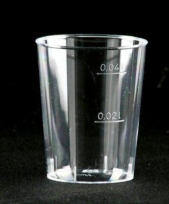läser 4cl Trinkbecher Plastikbecher (Klare Plastik-schnapsgläser)
