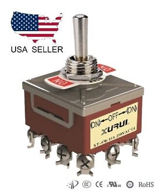 Heavy Duty 4pdt On-off-on Momentary Toggle Switch - Screw Terminals 43bf