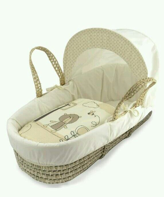 Kinder valley Cream tiny ted moses basket. Brand new in sealed packs. 2 lift in stock.