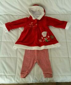 Mama's and Papa's Baby Girl First Christmas Outfit Just £2.50