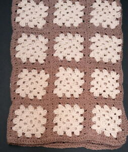New milk chocolate & cream 40 x 60-inch handmade afghan blanket