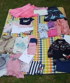 Bundle of girls clothes ranging from 5-6 to 9-10