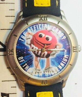 M&M's Watch Vintage 1998 The Official Candy New Millennium Watch w/ New Battery