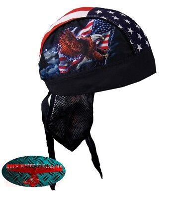 opftuch Headwrap Biker Chopper Cap V2 Harley USA 1% Rocker (Flag Bandana)