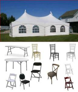 For Sale Event Tents Party Wedding Supplies Chairs Tables Warehouse Storage - SK