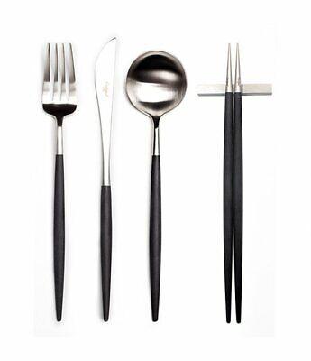 Cutipol Goa Black Dinner Cutlery Set 4p Free Shipping
