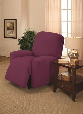 PURPLE WASHABLE COVERS FOR RECLINERS SOFAS COUCHES LOVESEATS