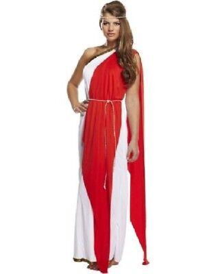Ladies Greek ROMAN Grecian Goddess Toga Fancy Dress Outfit Womens Adult Costume (Greek Outfit)