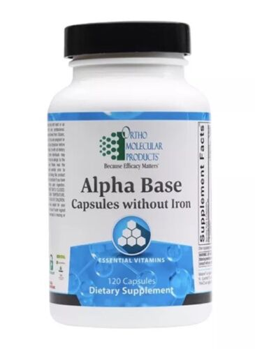 Ortho Molecular Alpha Base Without Iron 120 Capsules Exp. 9/21 FRESH & FAST